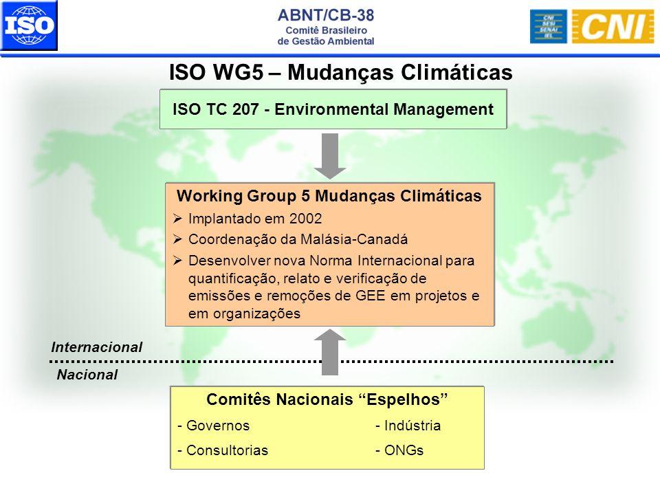ISO WG5 – Mudanças Climáticas