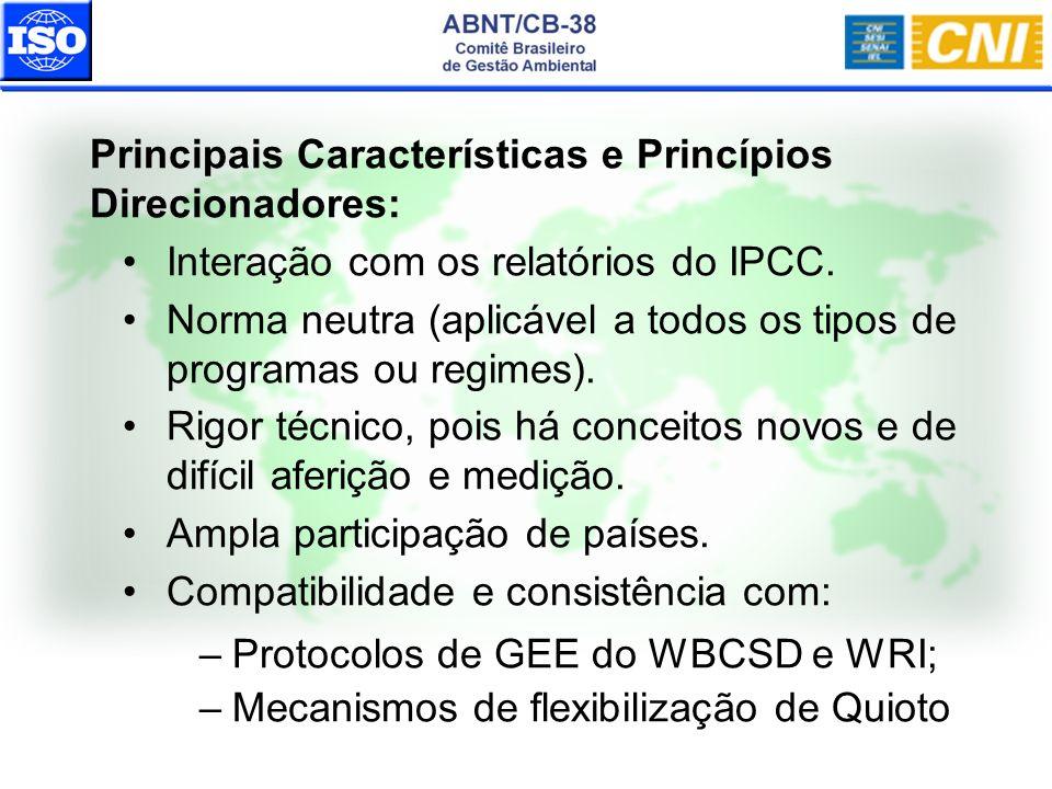 Principais Características e Princípios Direcionadores:
