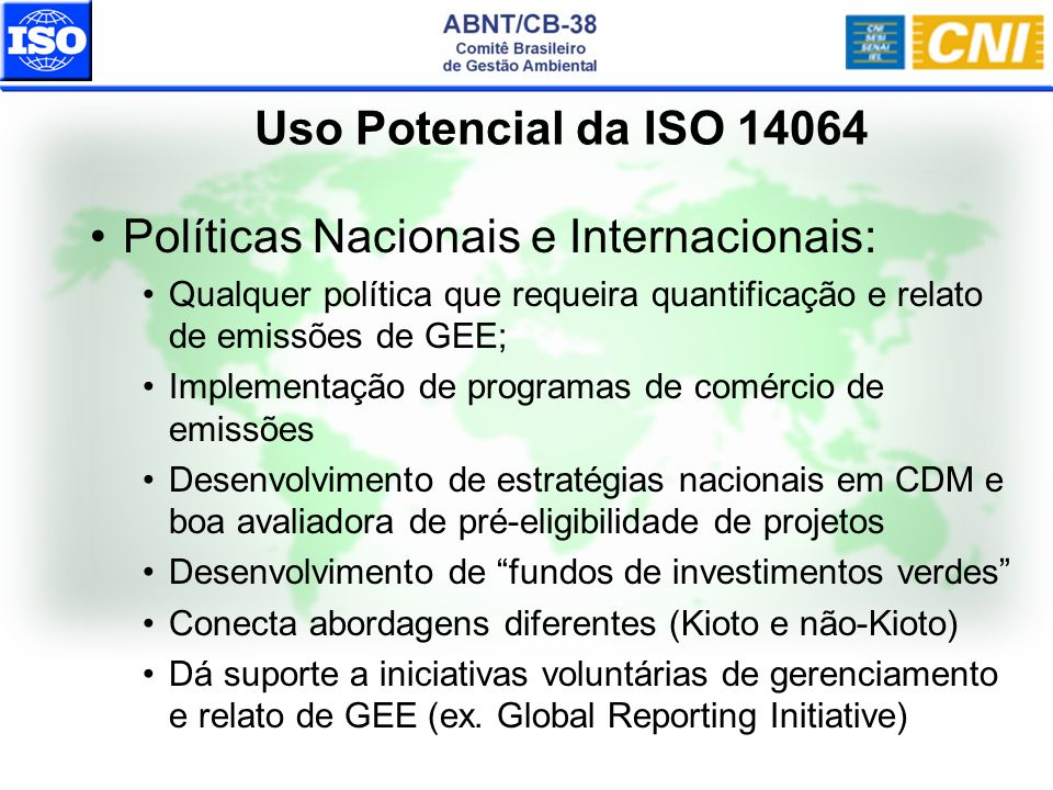 Políticas Nacionais e Internacionais: