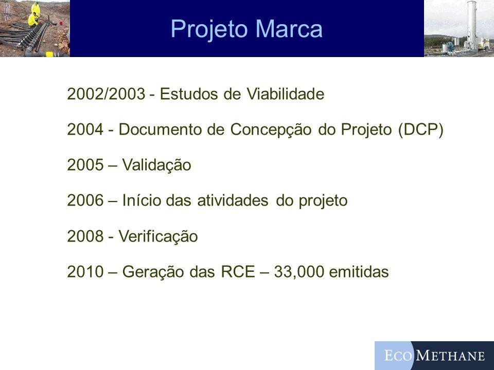 Projeto Marca 2002/2003 - Estudos de Viabilidade