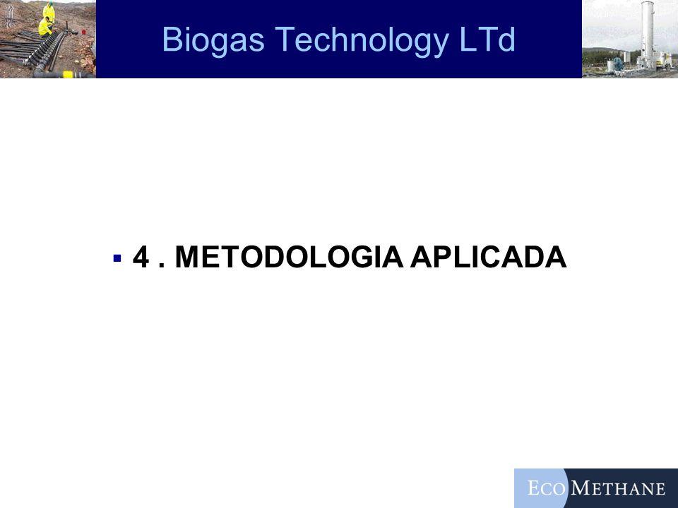 Biogas Technology LTd 4 . METODOLOGIA APLICADA
