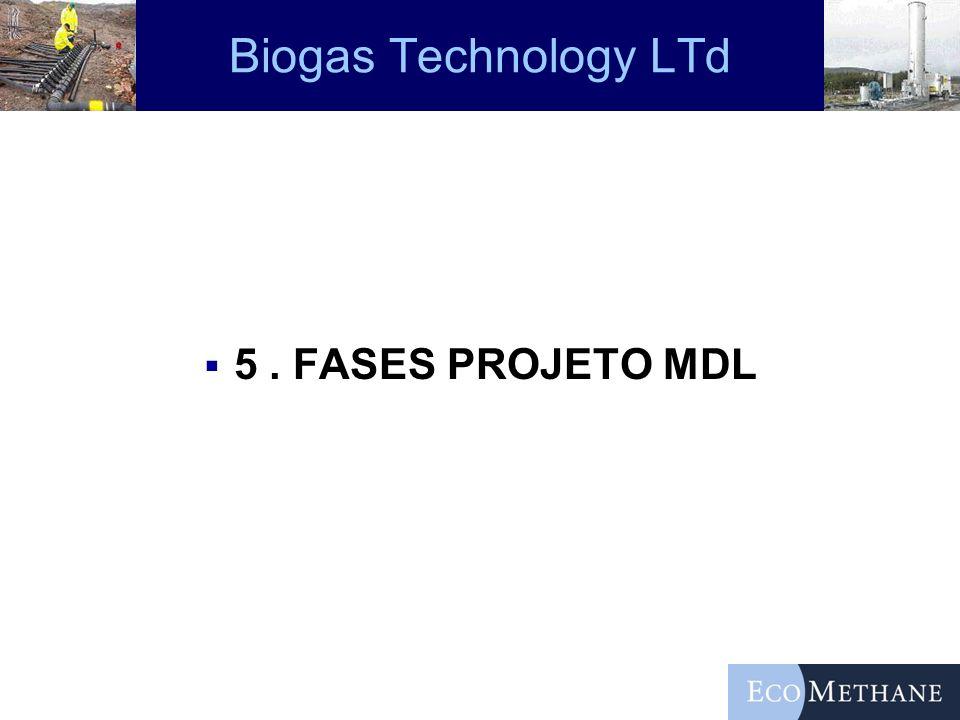 Biogas Technology LTd 5 . FASES PROJETO MDL