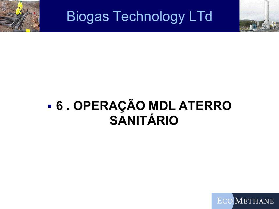 6 . OPERAÇÃO MDL ATERRO SANITÁRIO