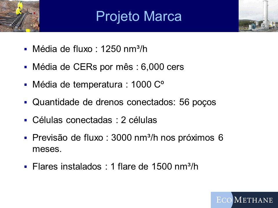 Projeto Marca Média de fluxo : 1250 nm³/h