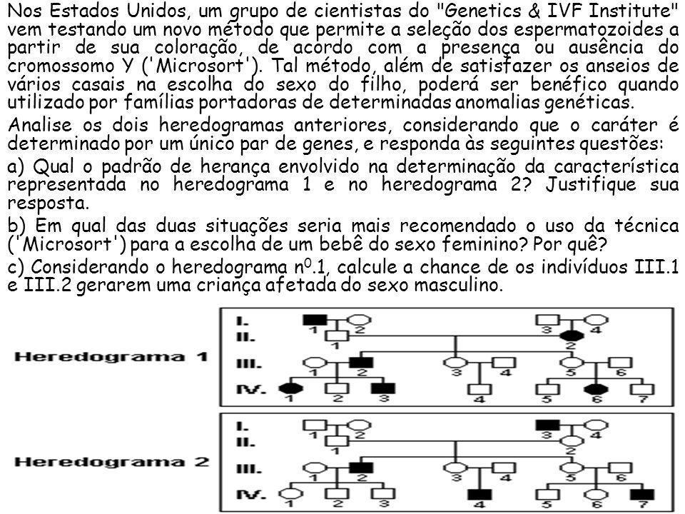 Nos Estados Unidos, um grupo de cientistas do Genetics & IVF Institute vem testando um novo método que permite a seleção dos espermatozoides a partir de sua coloração, de acordo com a presença ou ausência do cromossomo Y ( Microsort ). Tal método, além de satisfazer os anseios de vários casais na escolha do sexo do filho, poderá ser benéfico quando utilizado por famílias portadoras de determinadas anomalias genéticas.
