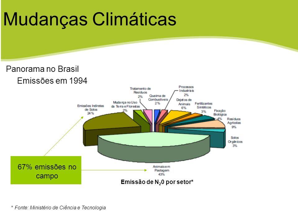 Mudanças Climáticas Panorama no Brasil Emissões em 1994