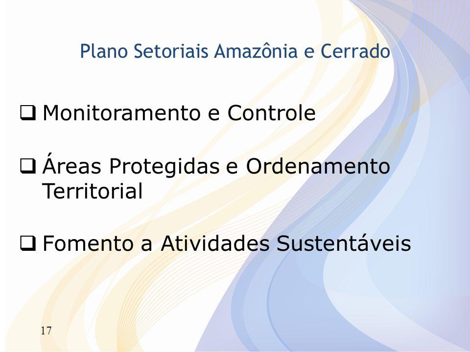 Plano Setoriais Amazônia e Cerrado