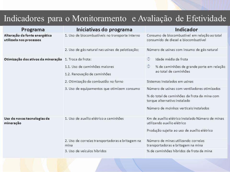 Iniciativas do programa