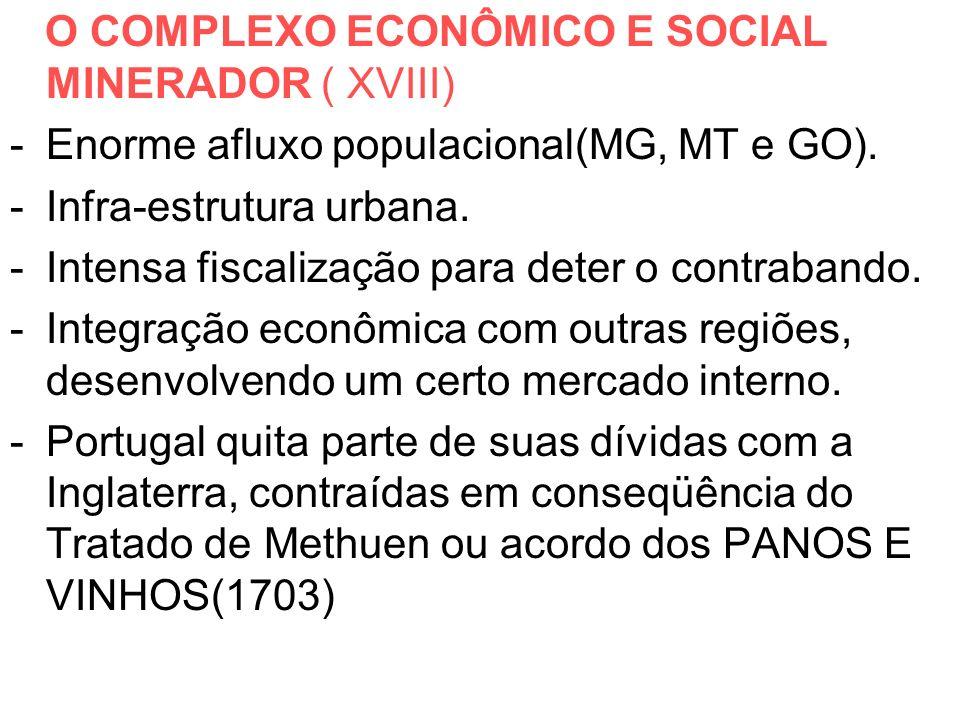 O COMPLEXO ECONÔMICO E SOCIAL MINERADOR ( XVIII)