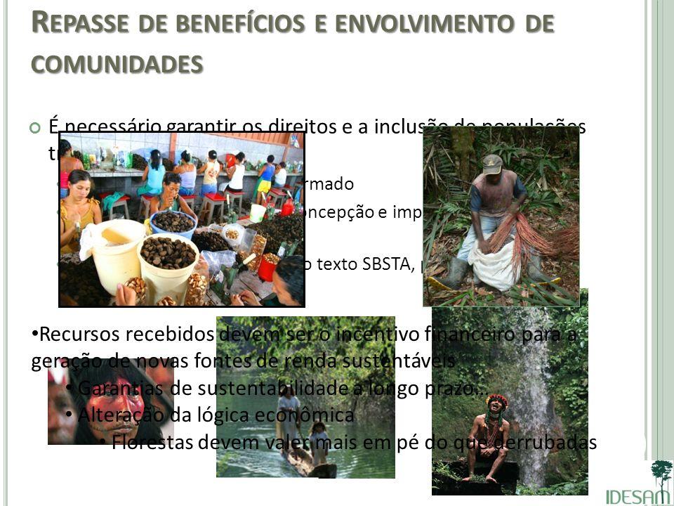 Repasse de benefícios e envolvimento de comunidades