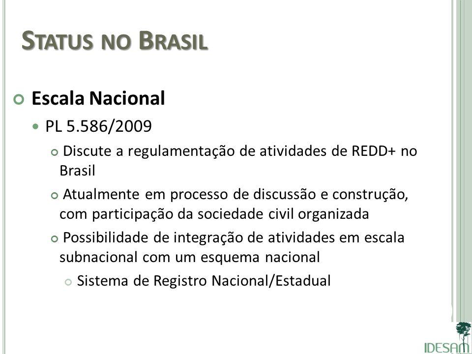 Status no Brasil Escala Nacional PL 5.586/2009