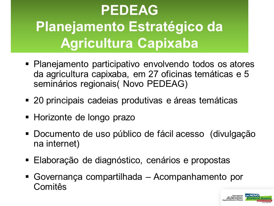 Planejamento Estratégico da Agricultura Capixaba