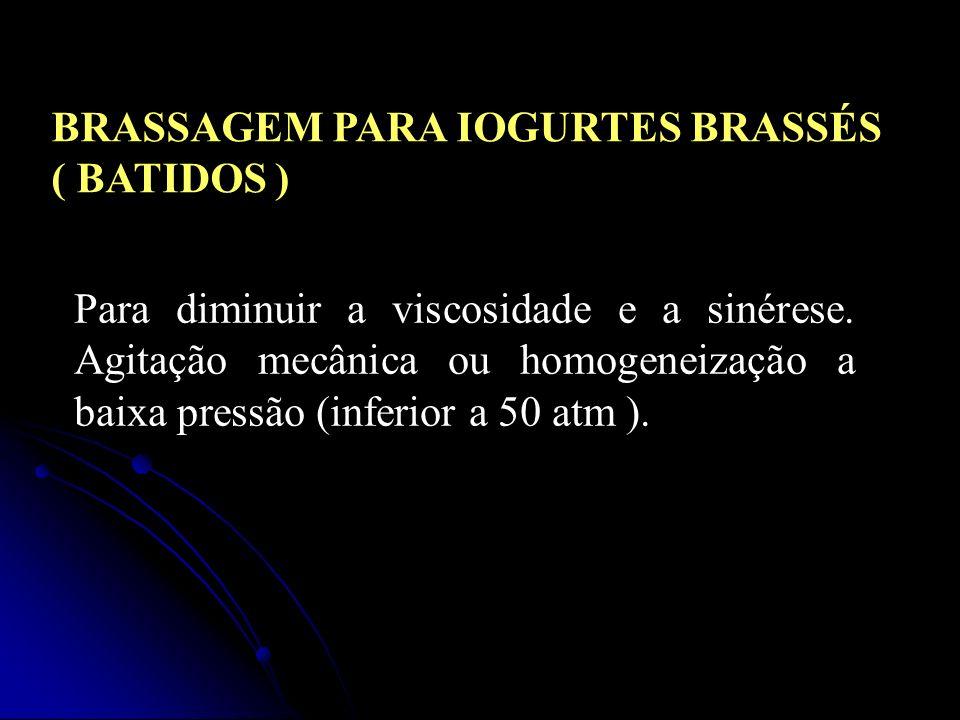 BRASSAGEM PARA IOGURTES BRASSÉS ( BATIDOS )