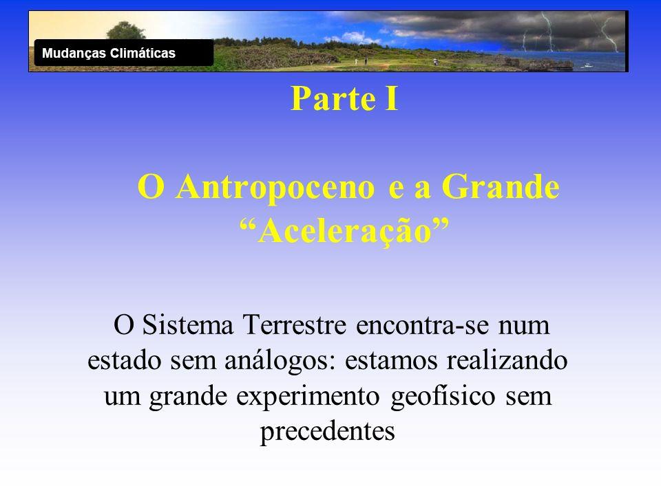 Parte I O Antropoceno e a Grande Aceleração