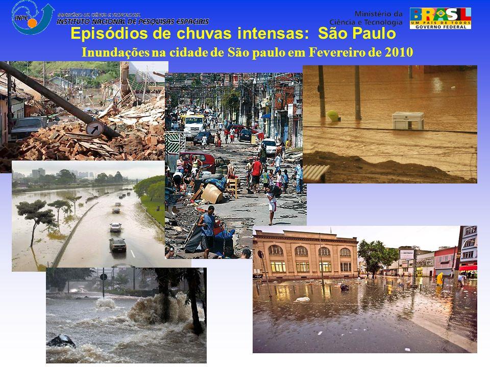 Episódios de chuvas intensas: São Paulo