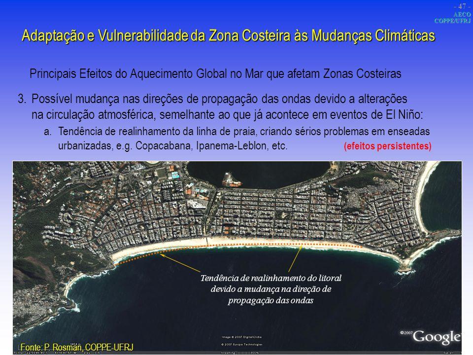 Adaptação e Vulnerabilidade da Zona Costeira às Mudanças Climáticas