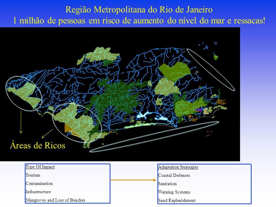 Região Metropolitana do Rio de Janeiro 1 milhão de pessoas em risco de aumento do nível do mar e ressacas!