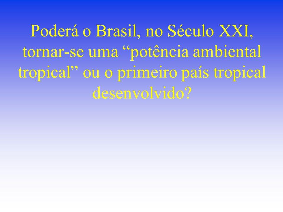 Poderá o Brasil, no Século XXI, tornar-se uma potência ambiental tropical ou o primeiro país tropical desenvolvido