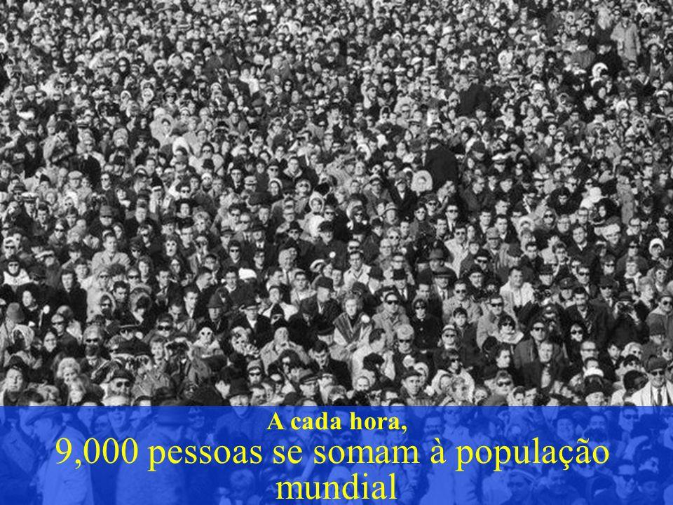 9,000 pessoas se somam à população