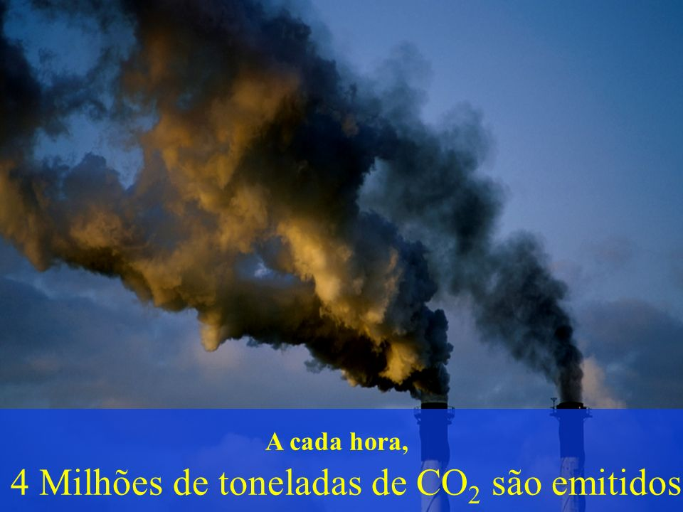 4 Milhões de toneladas de CO2 são emitidos