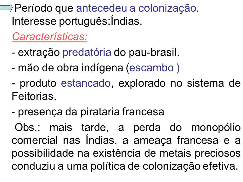 Período que antecedeu a colonização. Interesse português:Índias.