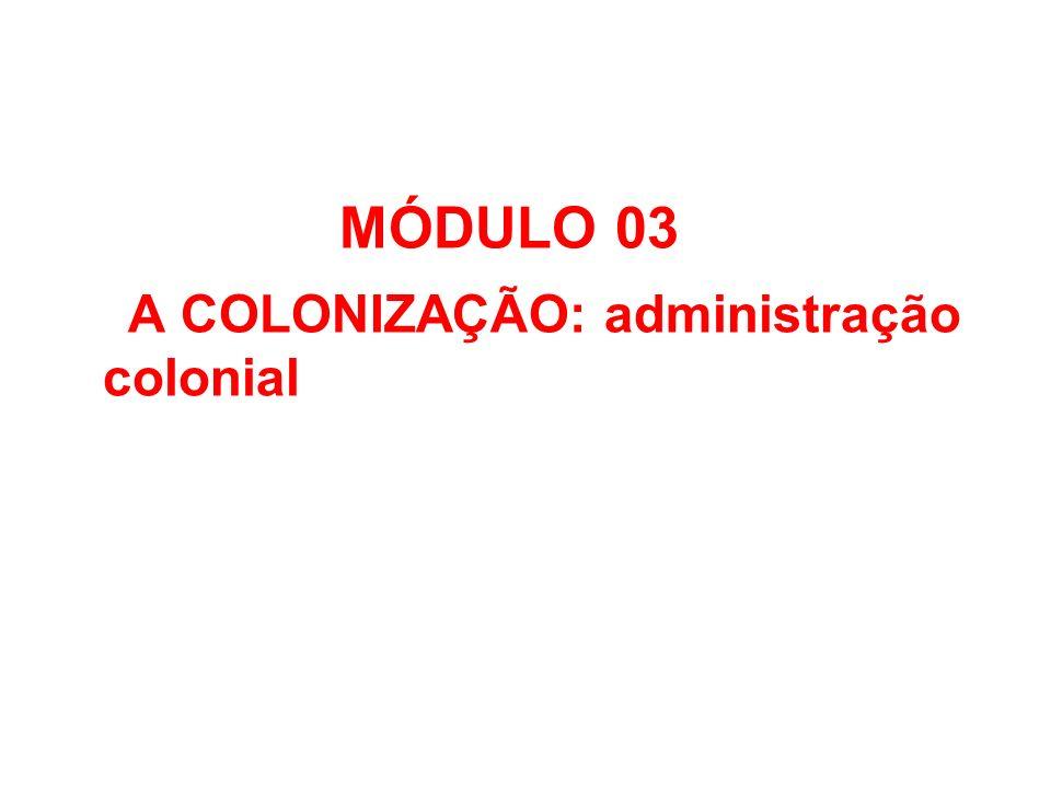 MÓDULO 03 A COLONIZAÇÃO: administração colonial