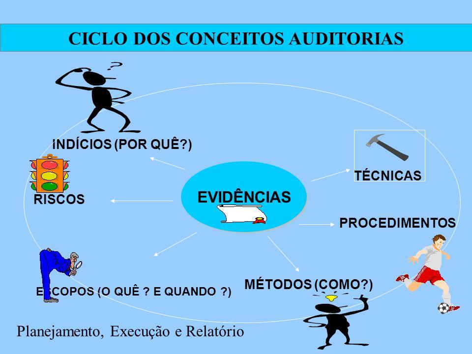 CICLO DOS CONCEITOS AUDITORIAS ESCOPOS (O QUÊ E QUANDO )