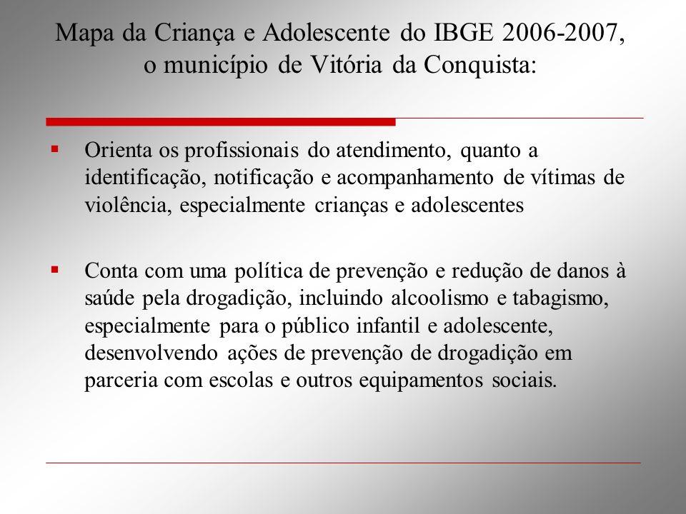 Mapa da Criança e Adolescente do IBGE 2006-2007, o município de Vitória da Conquista:
