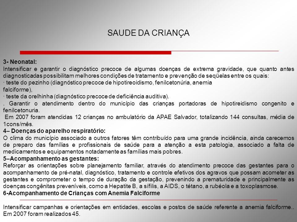 SAUDE DA CRIANÇA 3- Neonatal: