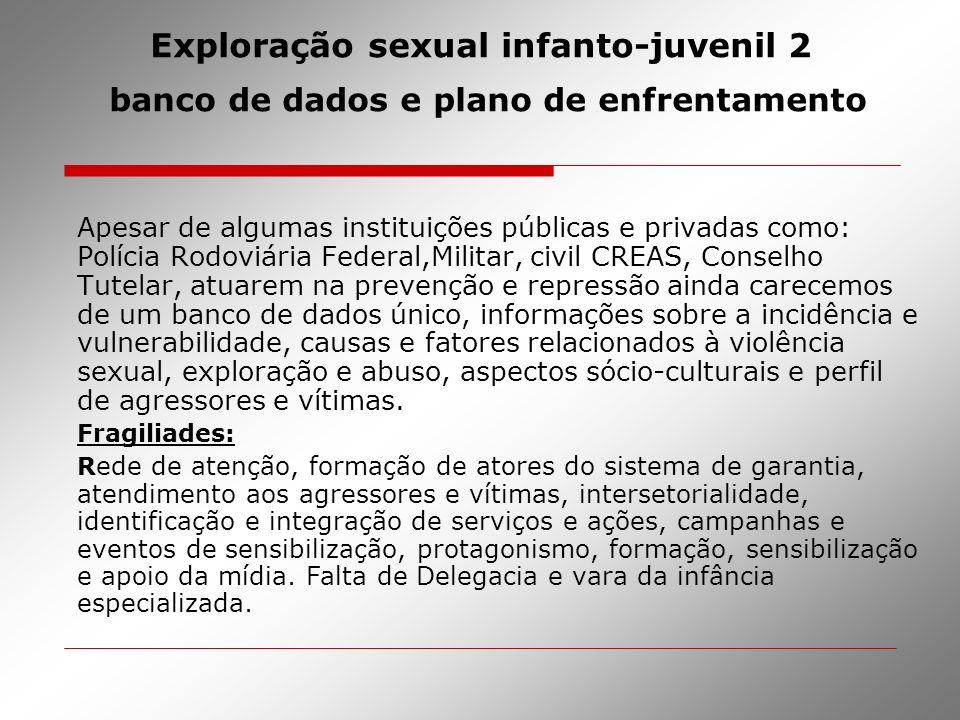 Exploração sexual infanto-juvenil 2 banco de dados e plano de enfrentamento