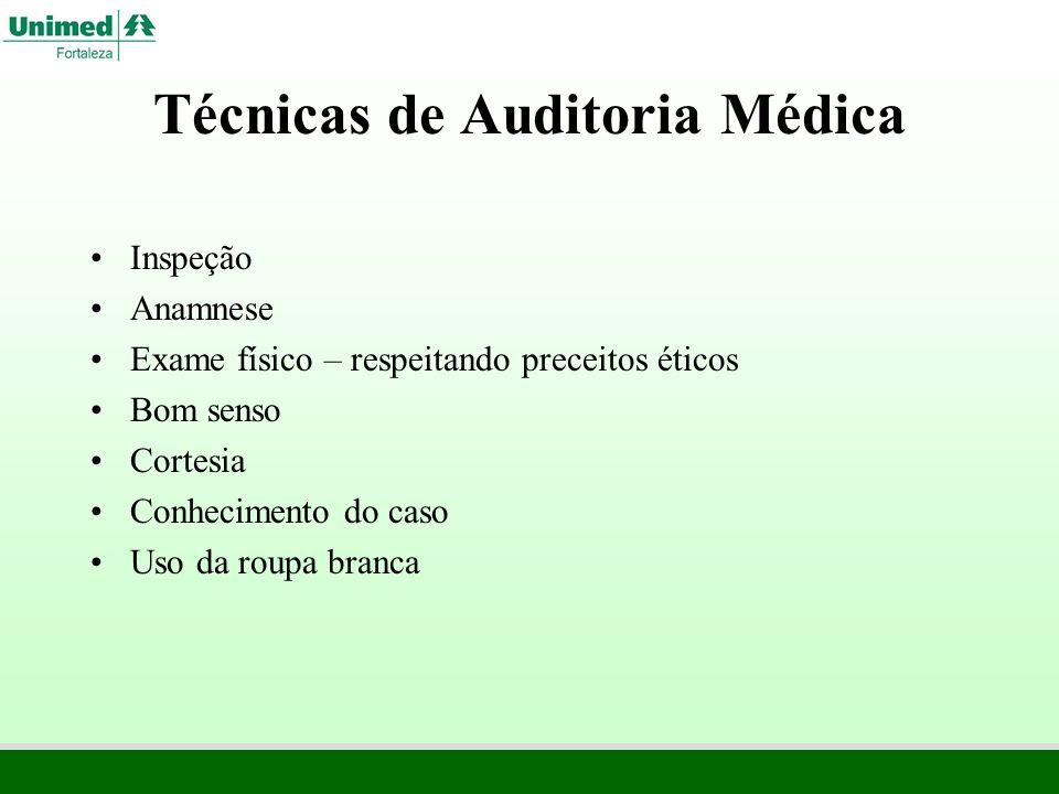 Técnicas de Auditoria Médica