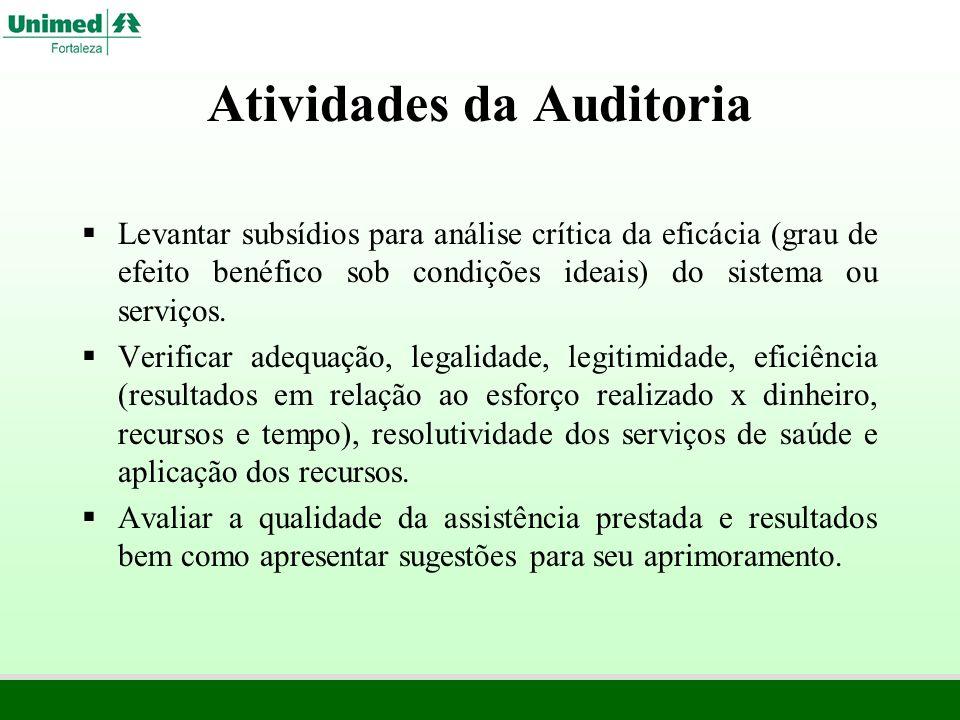 Atividades da Auditoria