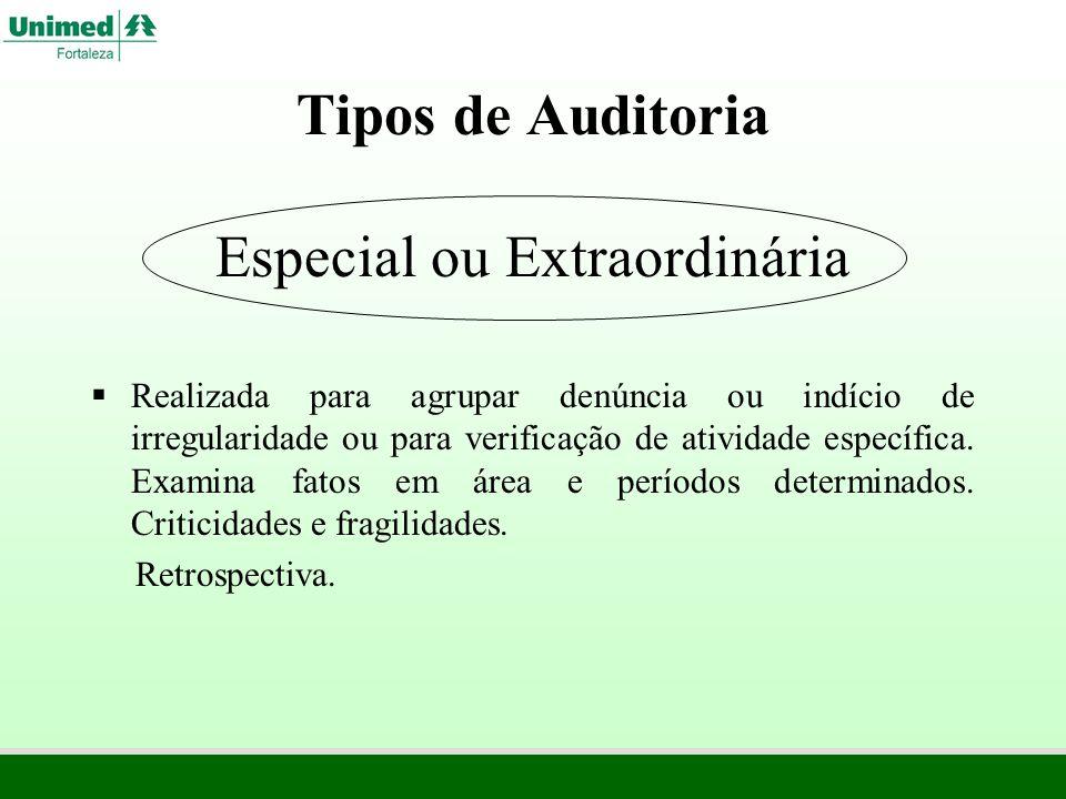 Tipos de Auditoria Especial ou Extraordinária