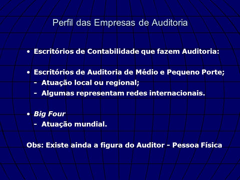 Perfil das Empresas de Auditoria