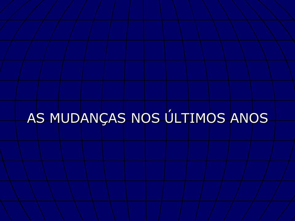 AS MUDANÇAS NOS ÚLTIMOS ANOS