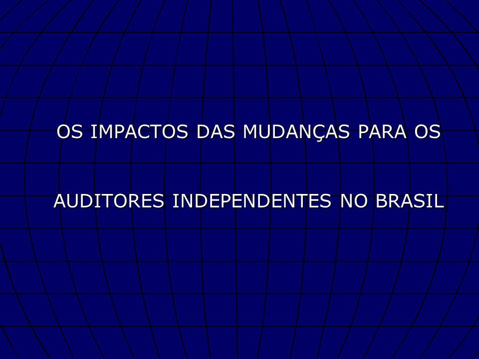 OS IMPACTOS DAS MUDANÇAS PARA OS AUDITORES INDEPENDENTES NO BRASIL