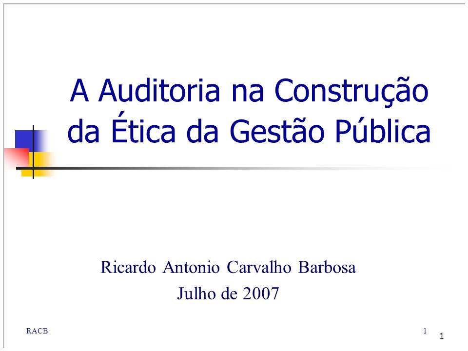A Auditoria na Construção da Ética da Gestão Pública
