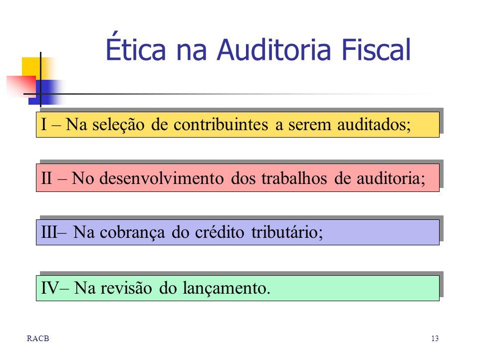 Ética na Auditoria Fiscal