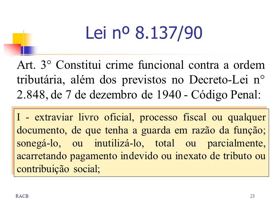 Lei nº 8.137/90