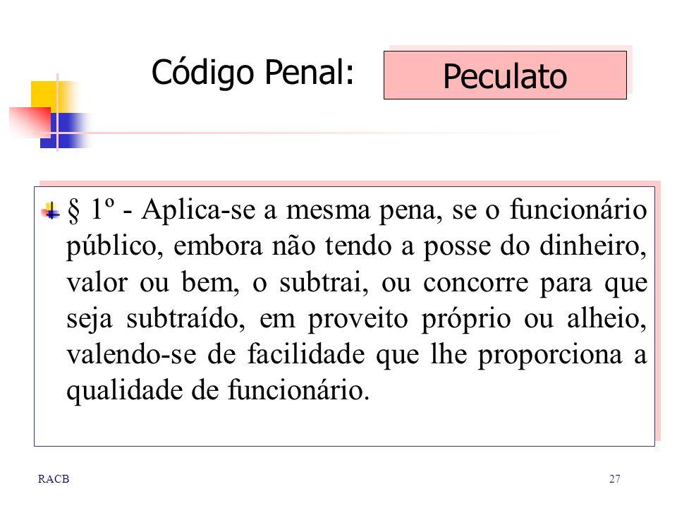 Código Penal: Peculato
