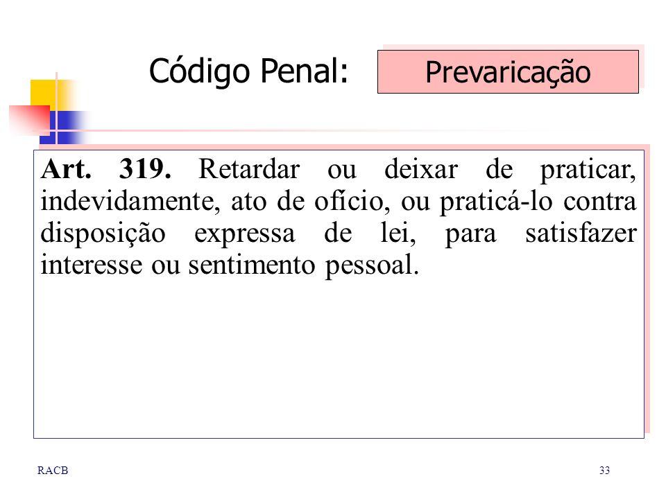 Código Penal: Prevaricação