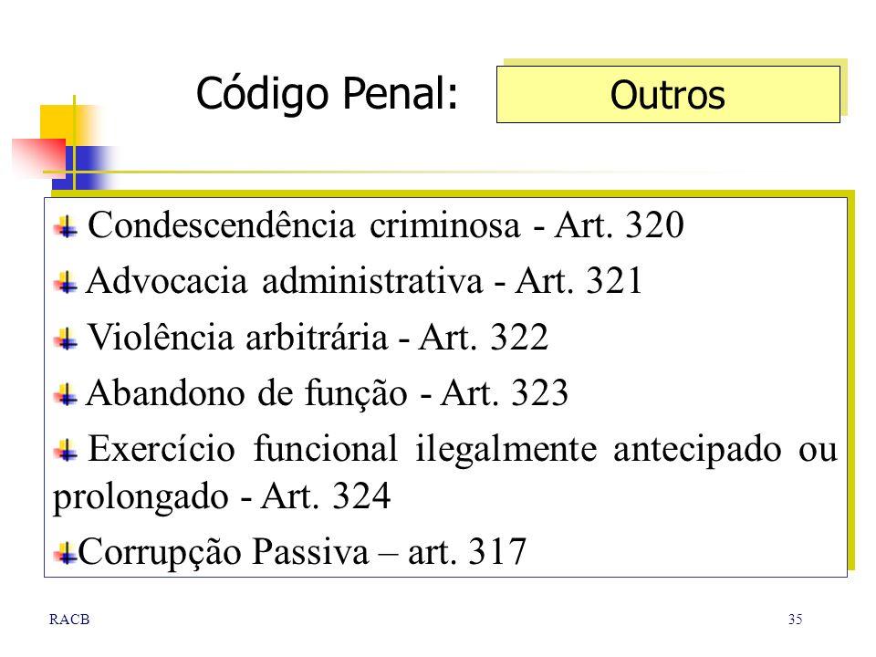 Código Penal: Outros Condescendência criminosa - Art. 320