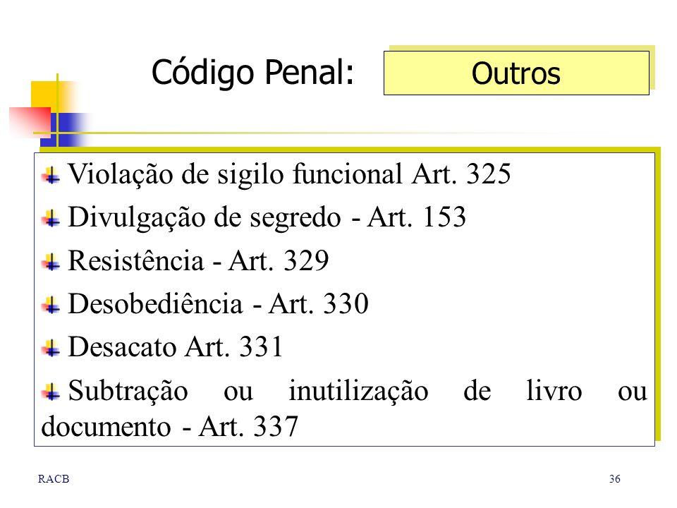 Código Penal: Outros Violação de sigilo funcional Art. 325