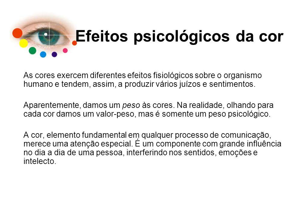 Efeitos psicológicos da cor