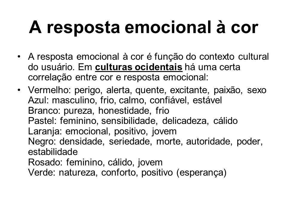 A resposta emocional à cor