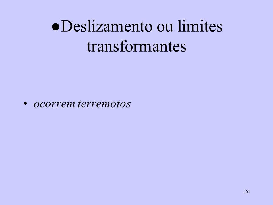 ●Deslizamento ou limites transformantes