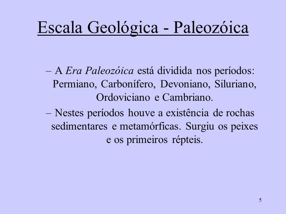 Escala Geológica - Paleozóica