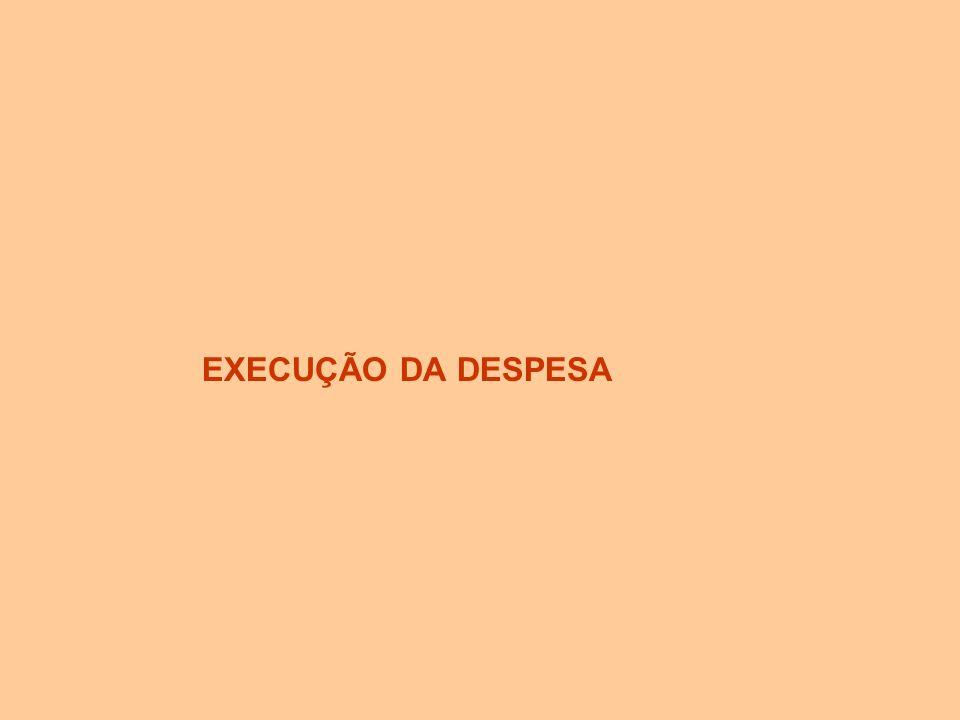 EXECUÇÃO DA DESPESA