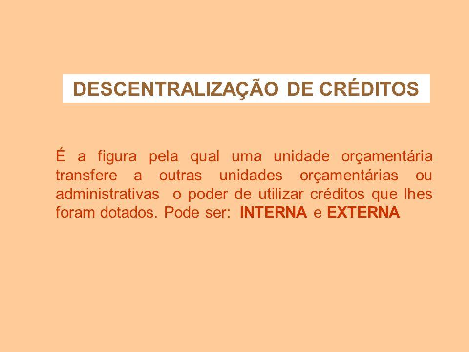DESCENTRALIZAÇÃO DE CRÉDITOS
