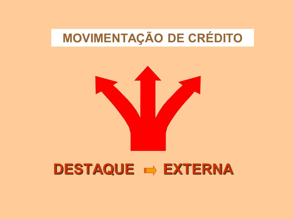 MOVIMENTAÇÃO DE CRÉDITO
